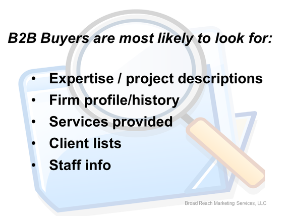 What B2B Buyers are looking for on your website